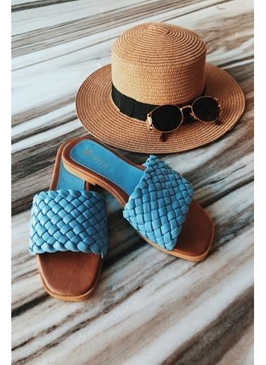Arma Shoes Kadın London Ev Terliği Mavi